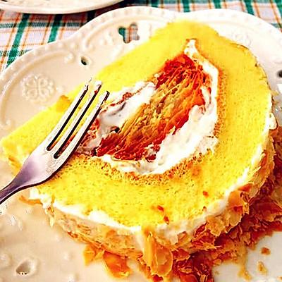 拿破仑酥蛋糕卷