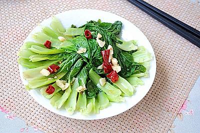 蒜香青菜#我要上首页清爽家常菜#