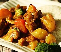 咖喱蘑菇鸡腿饭的做法