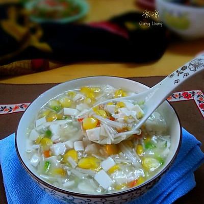 金针豆腐玉米羹