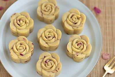 奶香玫瑰绿豆糕