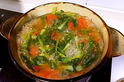 番茄鸡毛菜汤