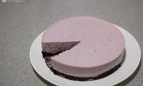蓝莓冻芝士蛋糕的做法