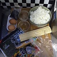 花样寿司---方型火腿花瓜鸡蛋卷的做法图解1