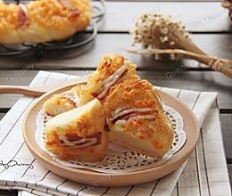 肉松培根面包#美的烤箱菜谱#的做法