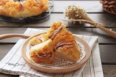 肉松培根面包#美的烤箱菜谱#