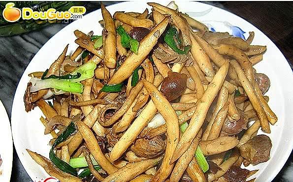 干煸茶树菇 的做法