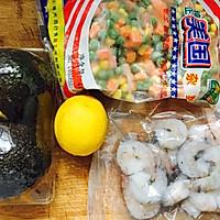 低脂无油牛油果酱虾仁色拉的做法图解1