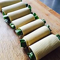 【豆皮蔬菜卷】把路边摊做成私房菜~ 家庭版铁板烤串的做法图解3
