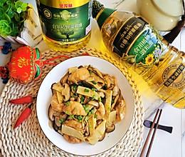 冬笋双菇炒油面筋 来自江南的鲜美的做法