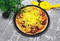 虾仁火腿披萨的做法