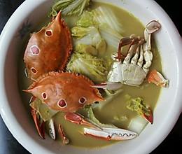 螃蟹白菜汤的做法