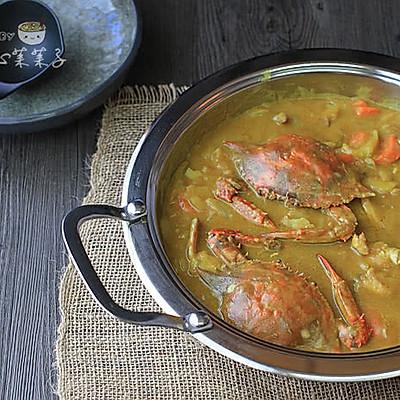 咖喱蟹煲——吃蟹拌饭两不误