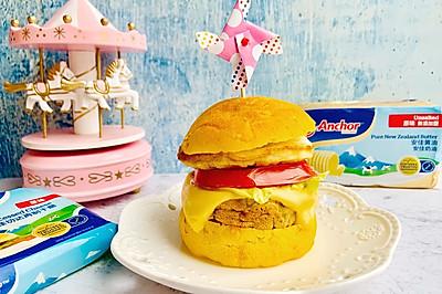 #安佳儿童创意料理#儿童南瓜汉堡