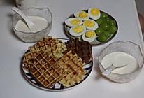 #合理膳食 营养健康进家庭#健脾营养淮山华夫饼的做法