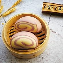紫薯双色卷