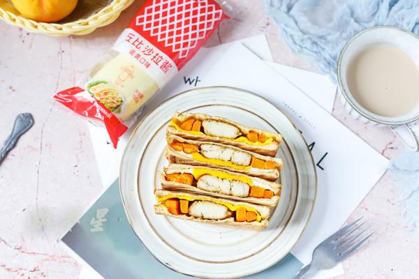 鸡肉热压三明治的做法