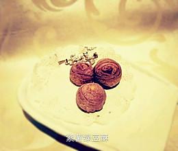 紫薯绿豆酥的做法
