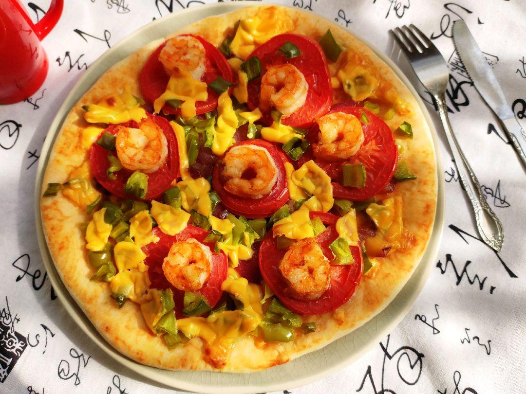 『鲜虾披萨』做