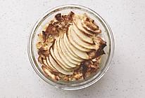 空气炸锅烤苹果坚果碎全麦面包蛋奶布丁的做法