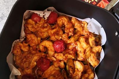低卡又饱腹的时蔬烤虾仁——空气炸锅版