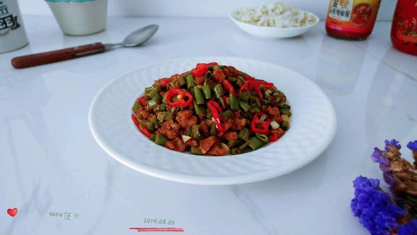 酒酱蒜辣椒豆肉的做法