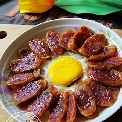 花式香肠蒸蛋