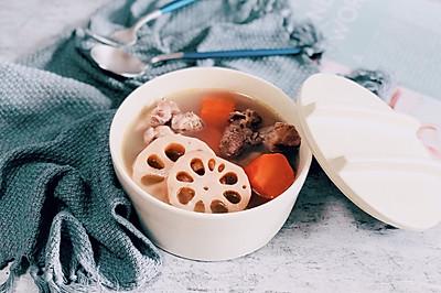 清热健脾—排骨莲藕红萝卜汤