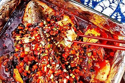 香辣豆豉烤全鱼
