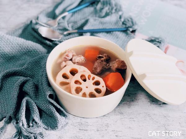 清热健脾—排骨莲藕红萝卜汤的做法