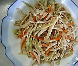 凉拌海鲜菇鸡丝的做法