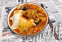 番茄红烩牛腩蛋包饭的做法