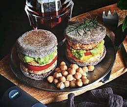 #全电厨王料理挑战赛热力开战!#减脂全麦熏鸡麦芬的做法