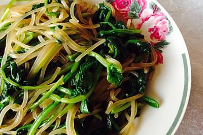 【清真】菠菜拌红薯粉