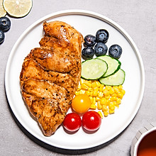水煎鸡胸肉,酱香好味又低脂的减脂餐 #321沙拉日#
