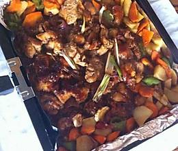 蔬菜酱汁烤鸡腿肉的做法