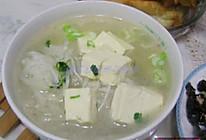 萝卜丝豆腐汤的做法