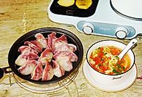 早餐:水煎饺+番茄鸡蛋汤+烤薯片的做法