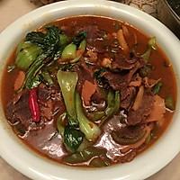 青菜牛肉的做法图解4