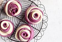 紫薯玫瑰馒头的做法