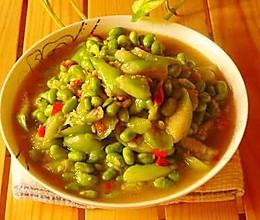 丝瓜毛豆子的做法