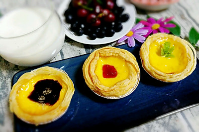 成品蛋挞皮+自制蛋挞液=完美蛋挞(三步)