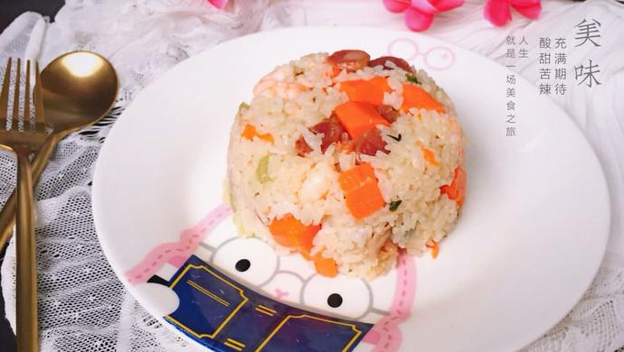 广式腊肠炒饭