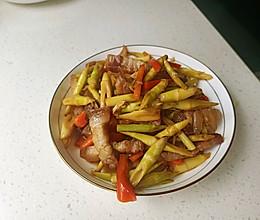 小竹笋炒腊肉的做法