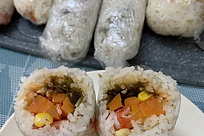 周中元气充值-简简新鲜芝麻海草饭团
