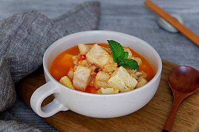番茄龙利鱼豆腐汤