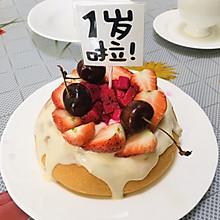 电饭锅版宝宝戚风生日奶油蛋糕