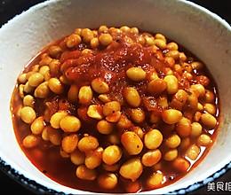 番茄焖黄豆的做法