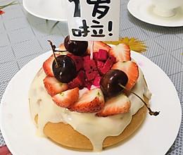 电饭锅版宝宝戚风生日奶油蛋糕的做法