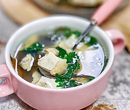#少盐饮食 轻松生活#低脂高蛋白花甲豆腐汤的做法